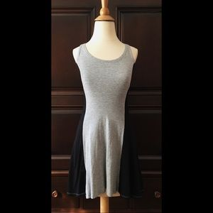 Knit color block dress